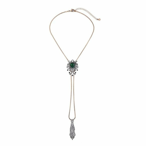 Je bijou jewelry emerald green crystal versatile pendant necklace emerald green crystal versatile pendant necklace aloadofball Image collections